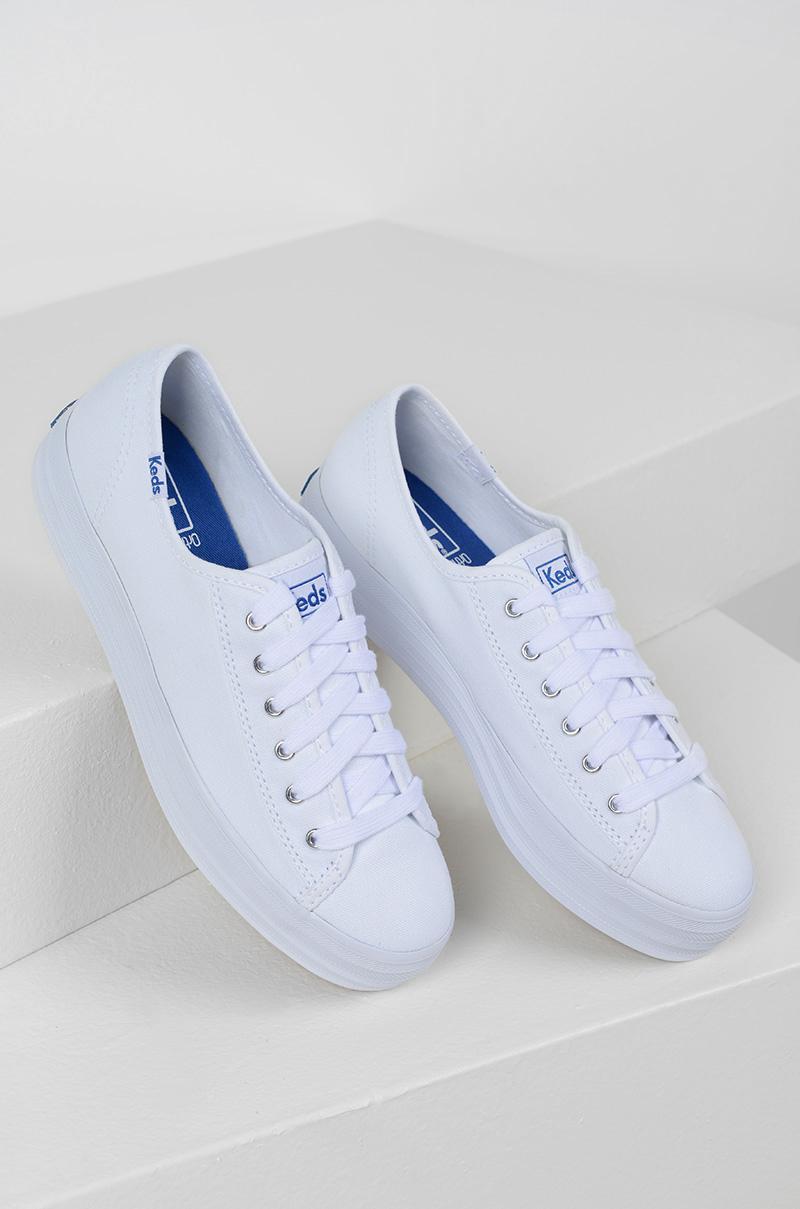 62e3866737 Lyst - AKIRA Keds Triple Kick Canvas Platform Sneaker in White