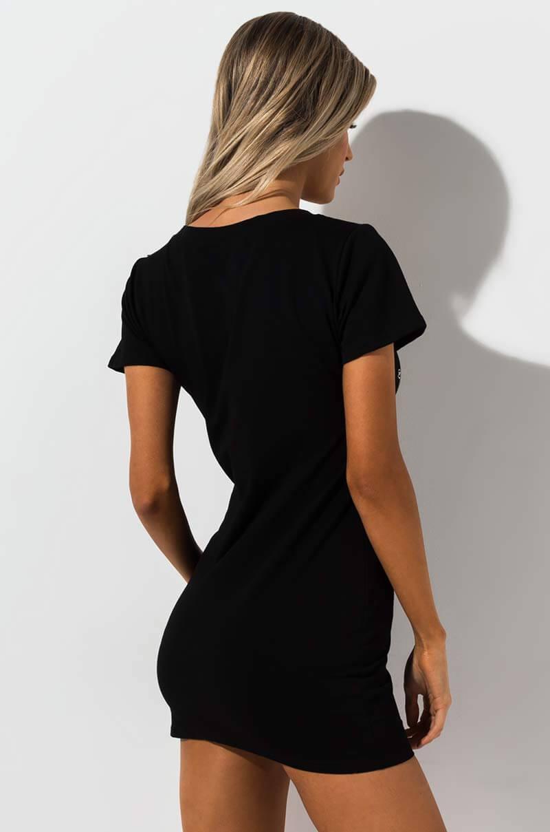 59843260 Akira - Black Rainbow T Shirt Dress - Lyst. View fullscreen