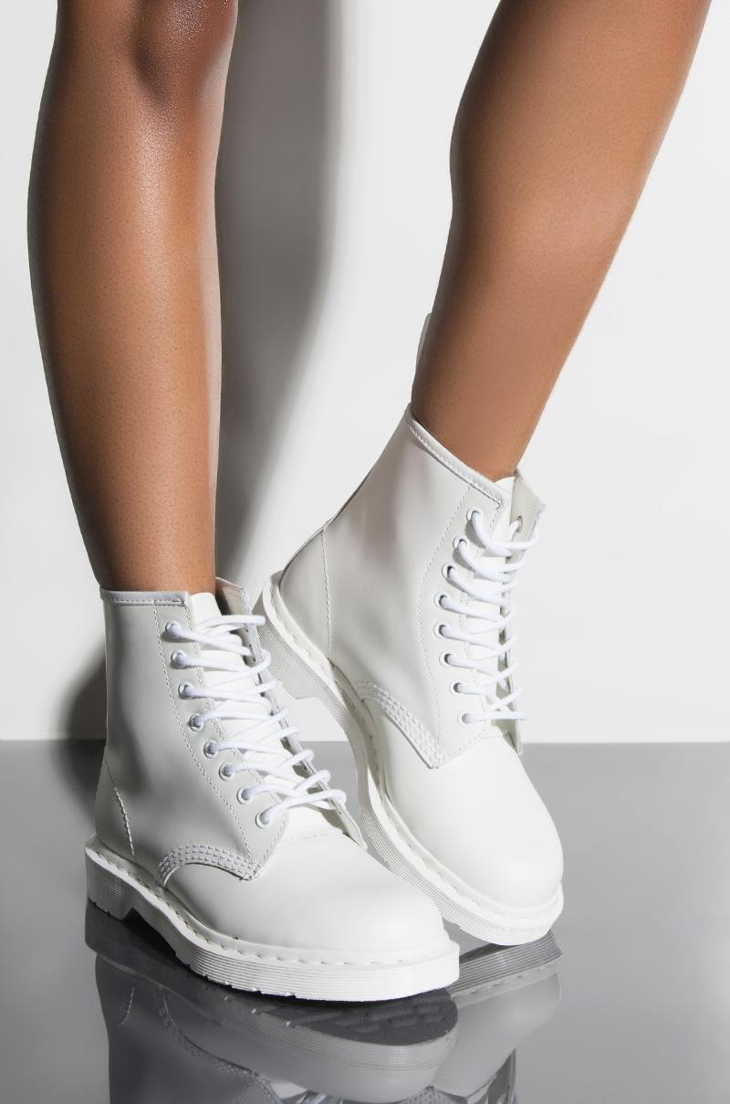san francisco so cheap on feet at 1460 White Mono Smooth Ankle Boots