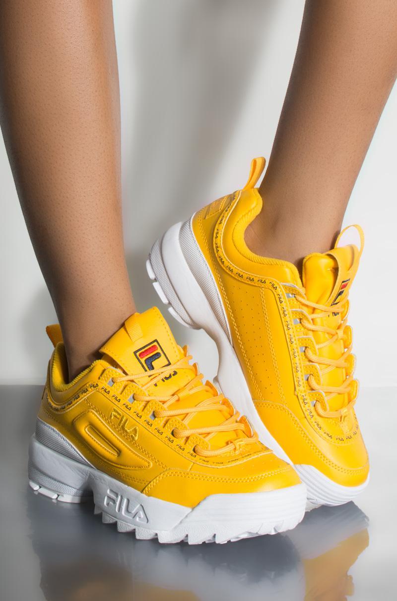 yellow fila womens shoes coupon d4c45 e8534