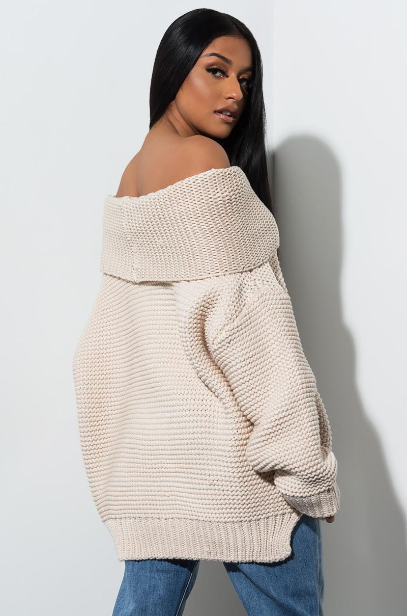 8a5791f5c98 Lyst - AKIRA Live Your Life Turtleneck Sweater in Natural