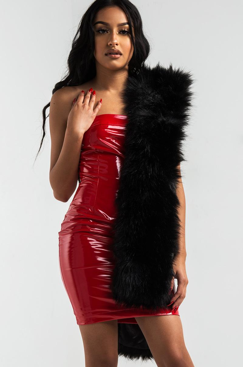 Akira Hailey Patent Leather Mini Dress In Red Lyst