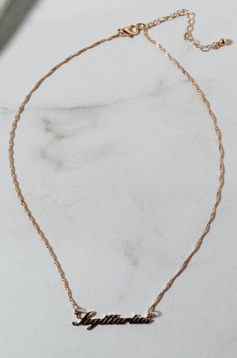 9c2108e5cbc8f Lyst - AKIRA Sagittarius Nameplate Necklace in Metallic