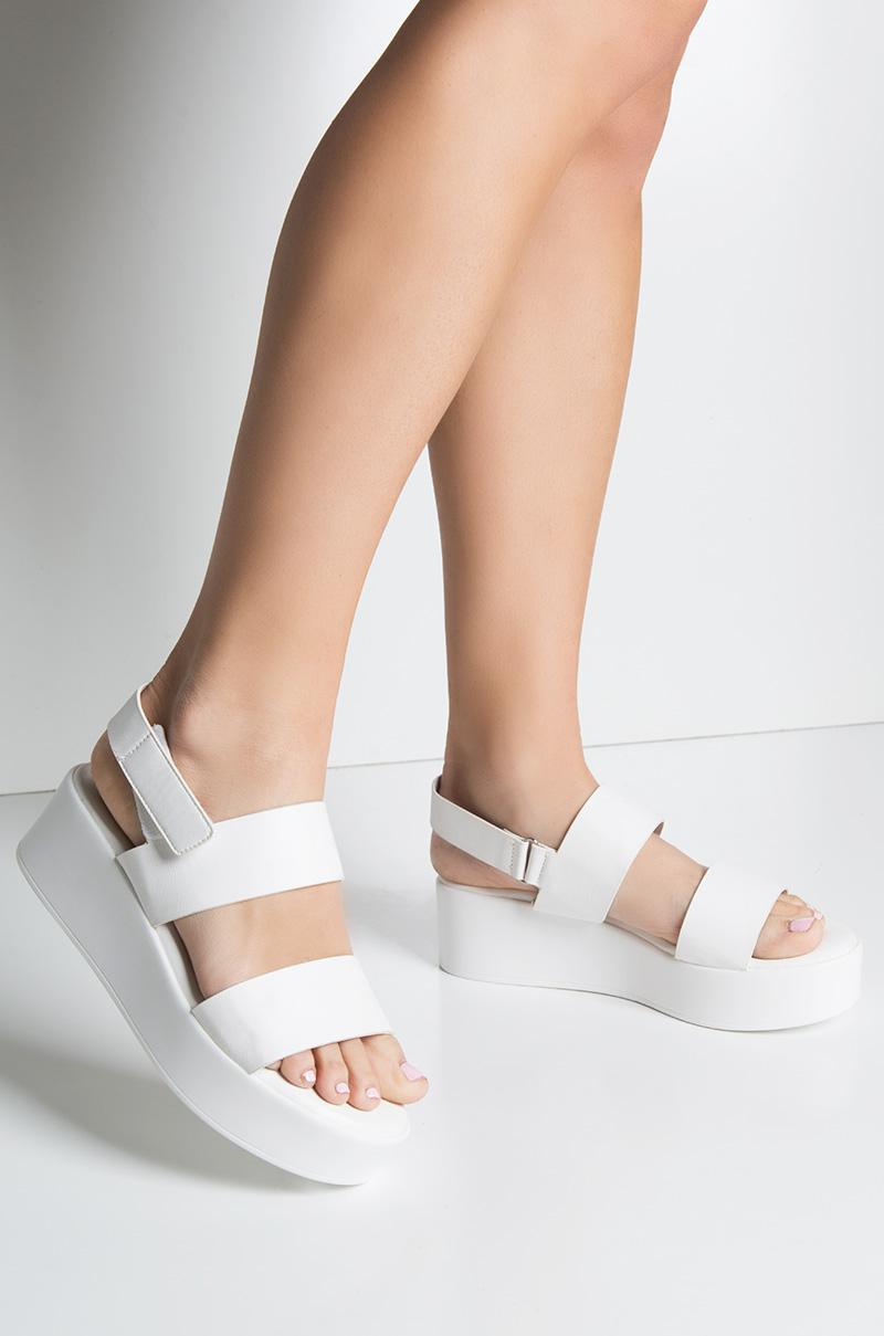 8f1938d91d8 Lyst - AKIRA Cher Is That You Platform Sandal in White