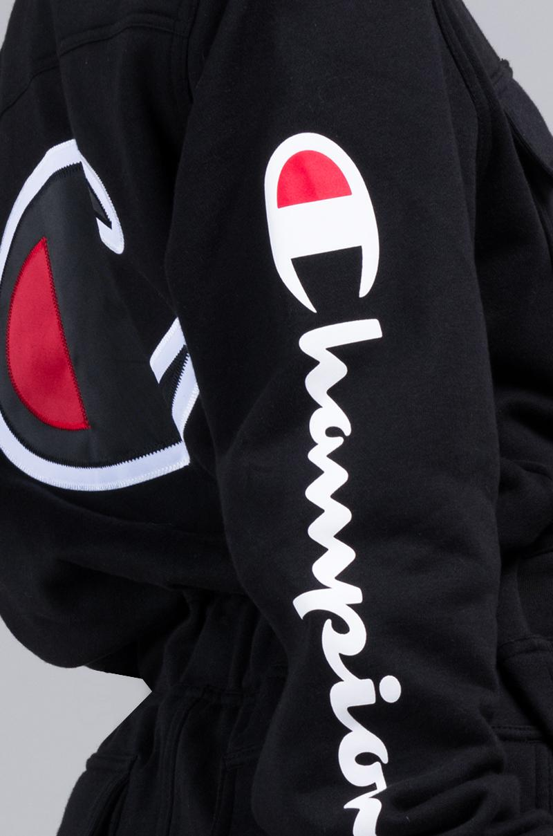 b799541124d5 Lyst - Champion Superfleece Jumpsuit in Black