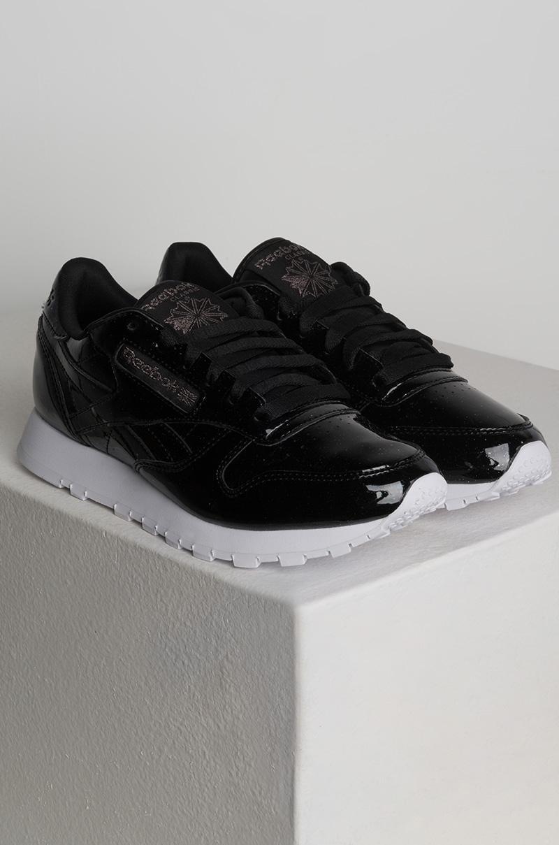 9fb3d15b0dc4 Lyst - Reebok Classic Leather Patent Pearl Sneaker in Black