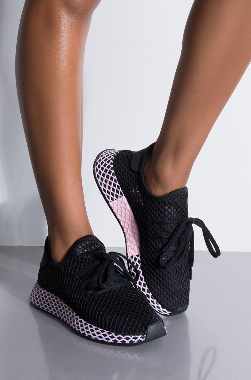 c7e0bd3aec779 adidas Womens Deerupt W in Black - Lyst