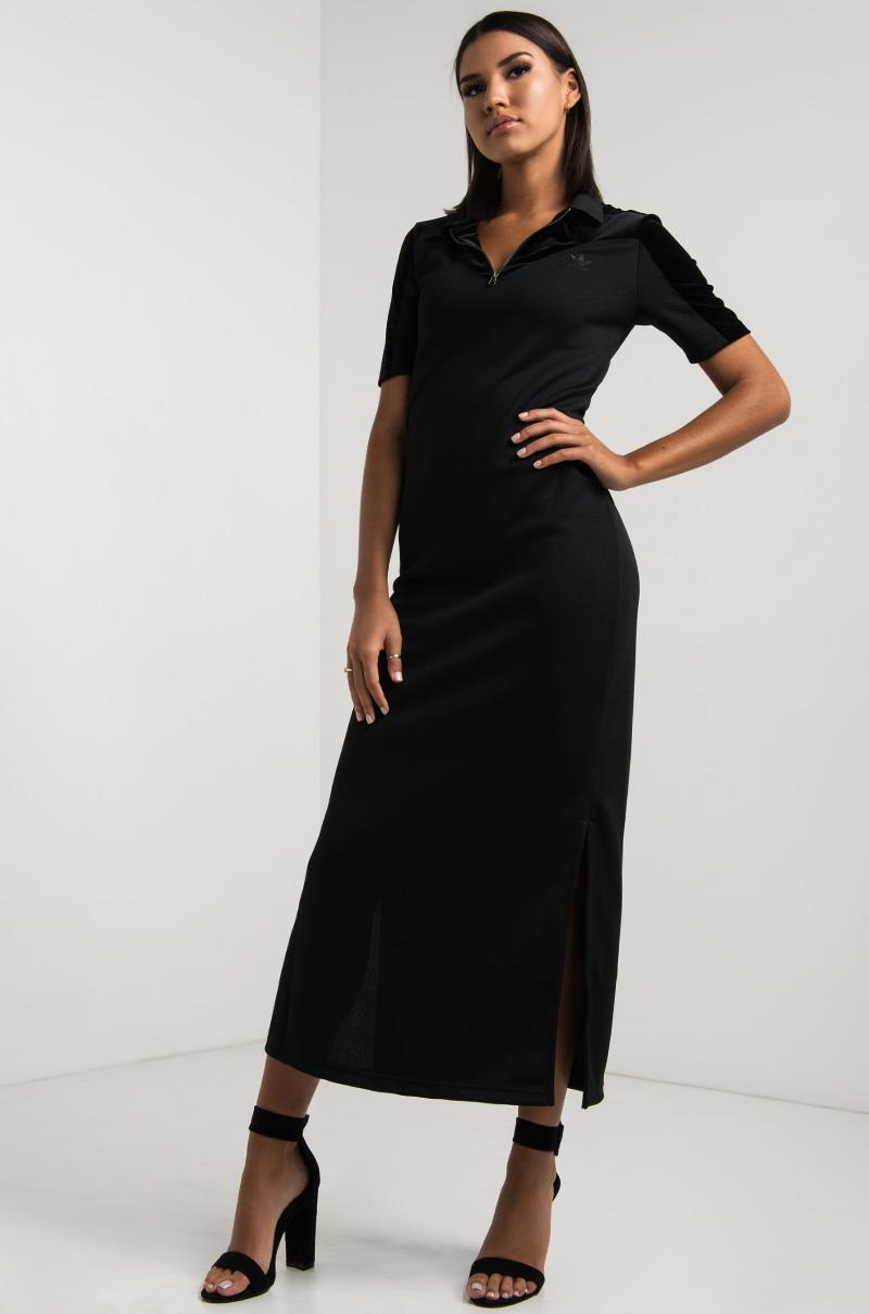6c2a0fdab31 adidas Velvet Vibes Long Tee Dress in Black - Lyst