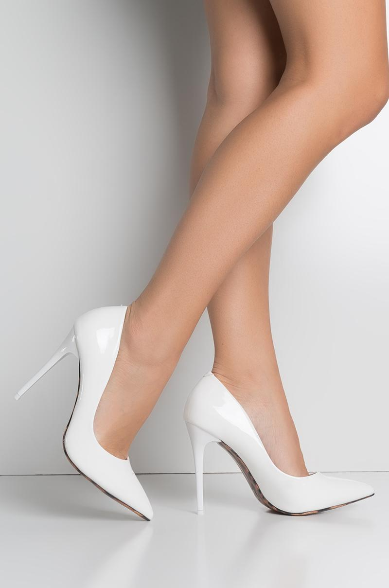 Lyst Akira Seductive Pointed Toe Sexy Heel Pumps In White