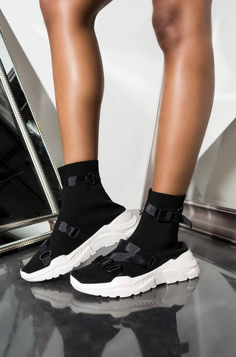 Cape Robbin Buckle High Top Sneakers in