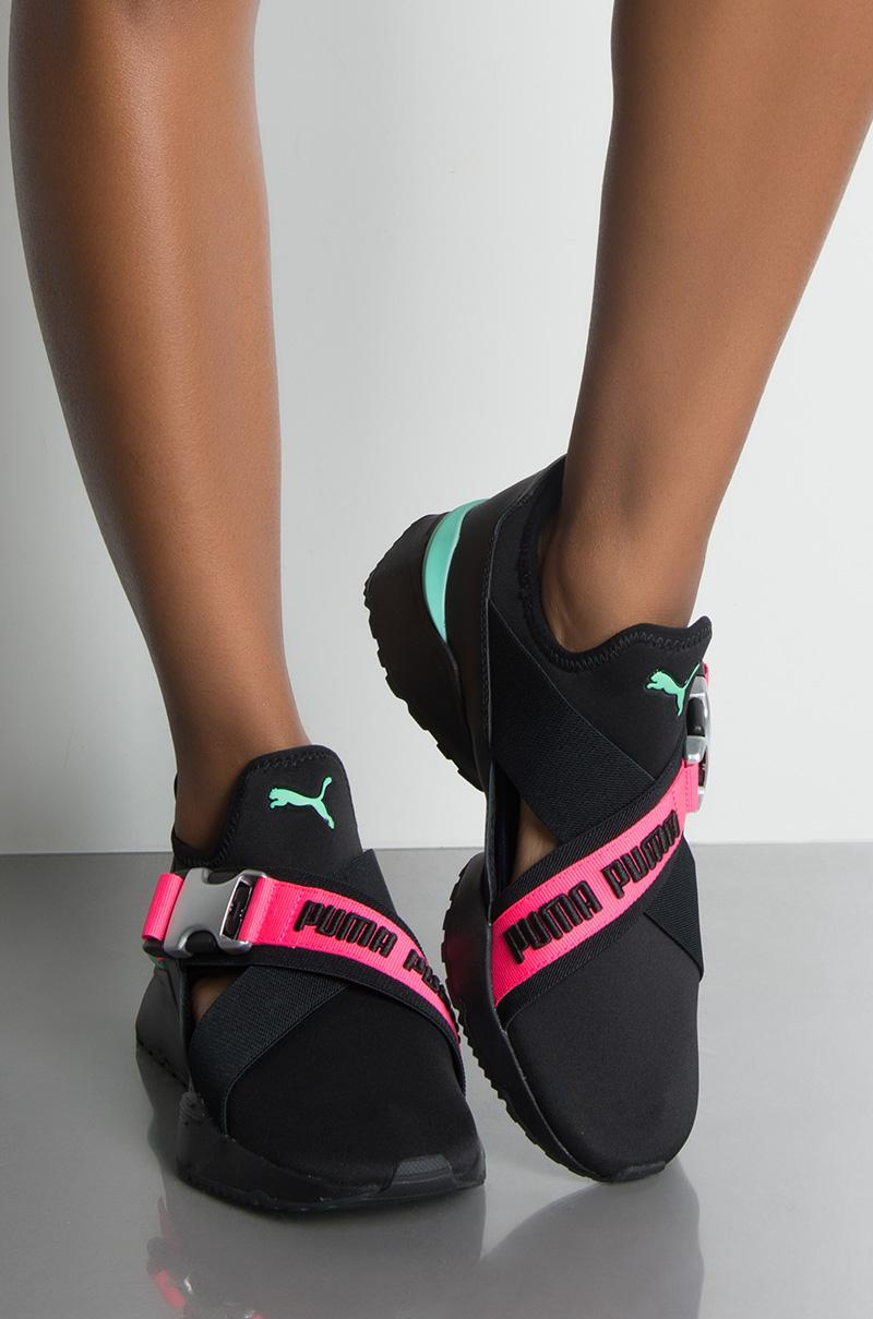 f491f910 PUMA Synthetic Womens Muse Eos Street 1 Sneaker in Black - Lyst