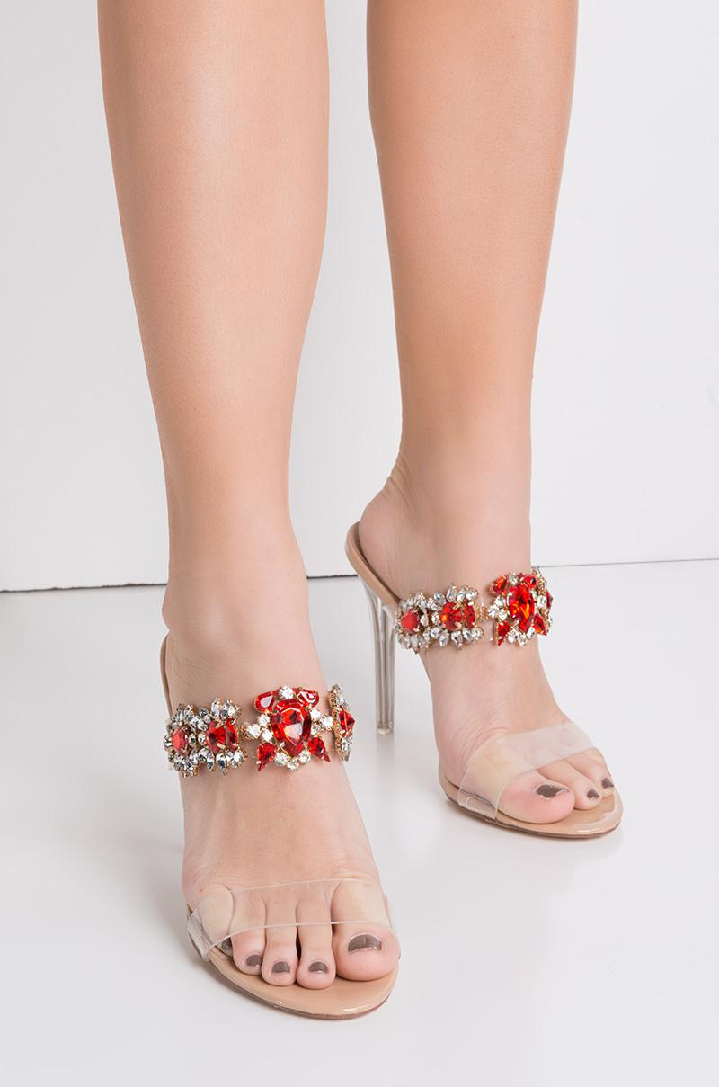 ffaec6b8ec Cape Robbin Got That Bling Open Toe Jeweled Heels - Lyst