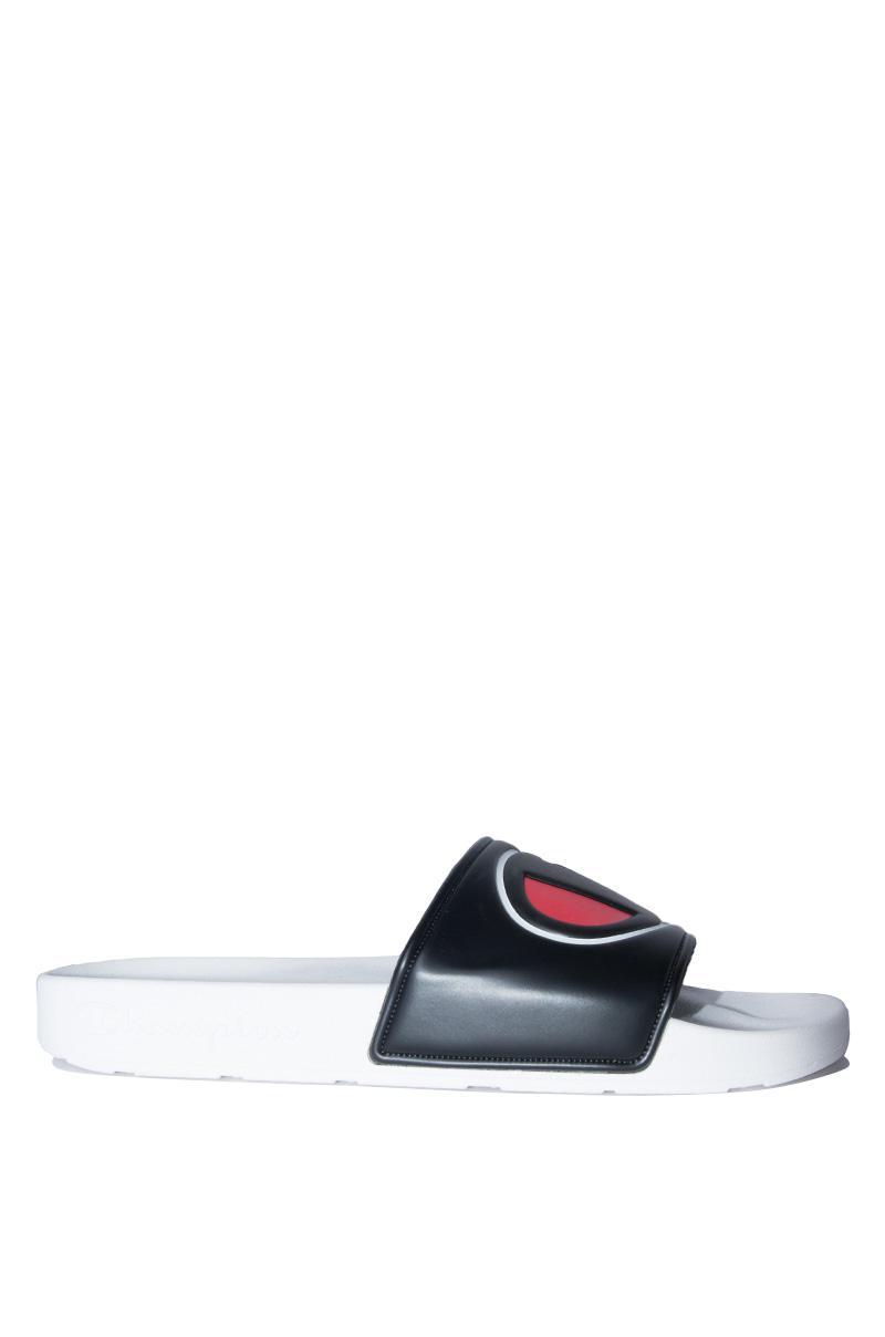 3651bee6840 Lyst - Champion Mens Ipo Script And Big C Logo Slide Sandal in Black ...