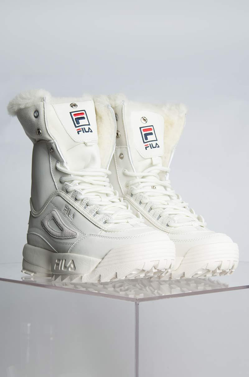 Fila Suede Disruptor Shearling Boots in