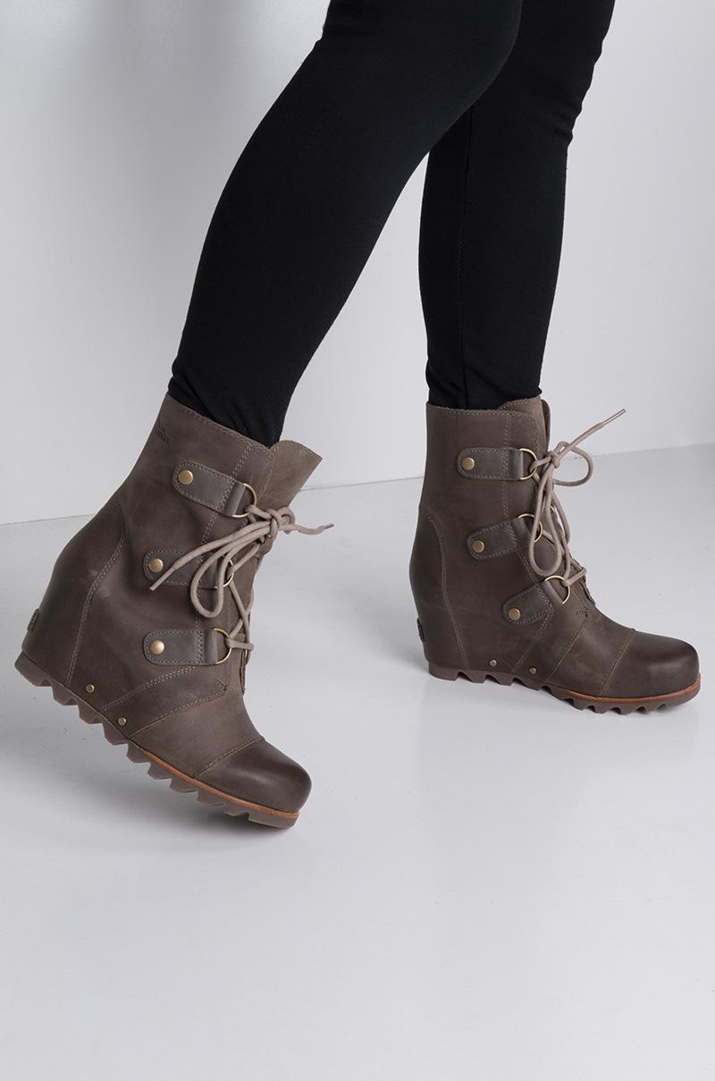 5259a5f639e1 Lyst - AKIRA Sorel Joan Of Arctic Wedge Waterproof Boot in Brown