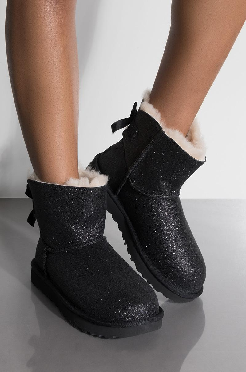 black sparkle uggs with bows \u003e Up to 67