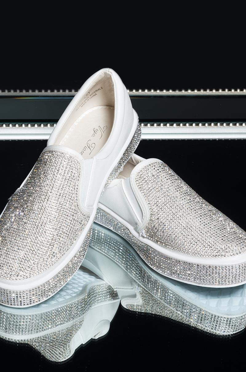 AKIRA Bling Bling Slip On Sneakers in