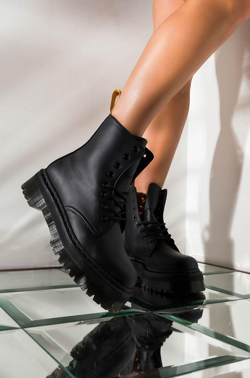 Dr Martens Leather Vegan Jadon Ii Mono Platform Boot In