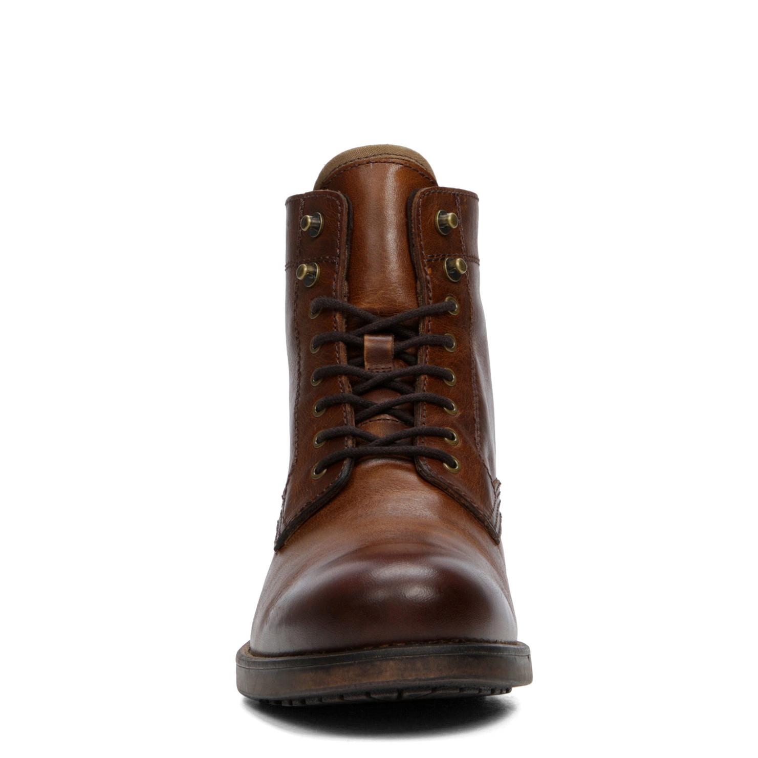 ALDO Etausen Leather Ankle Boots in Cognac (Brown) for Men