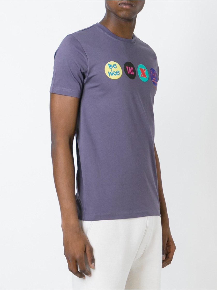 Paul Smith 39 Be Nice 39 T Shirt In Purple For Men Lyst