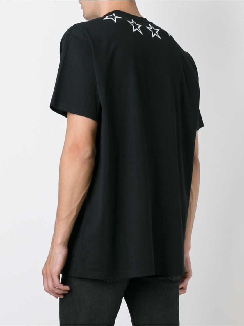 Givenchy star print t shirt in black for men lyst for Givenchy 5 star shirt