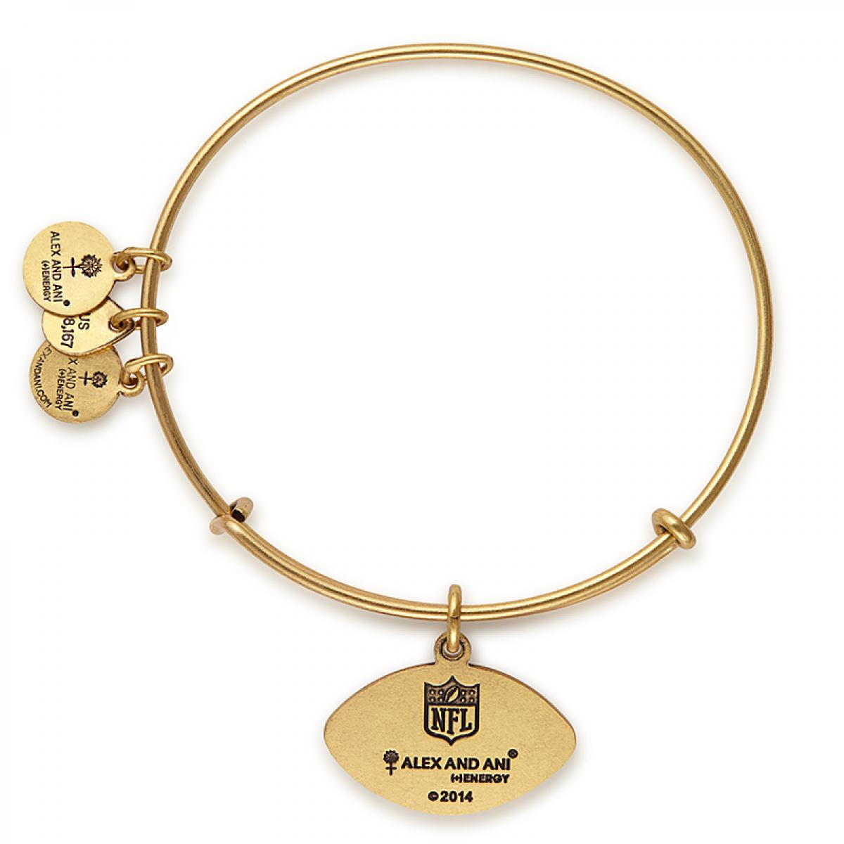 d9ee125a872 Lyst - ALEX AND ANI Chicago Bears Football Charm Bangle in Metallic
