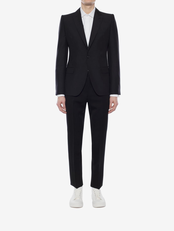 Alexander McQueen Canvas Amq Shoulder Jacket in Black for Men