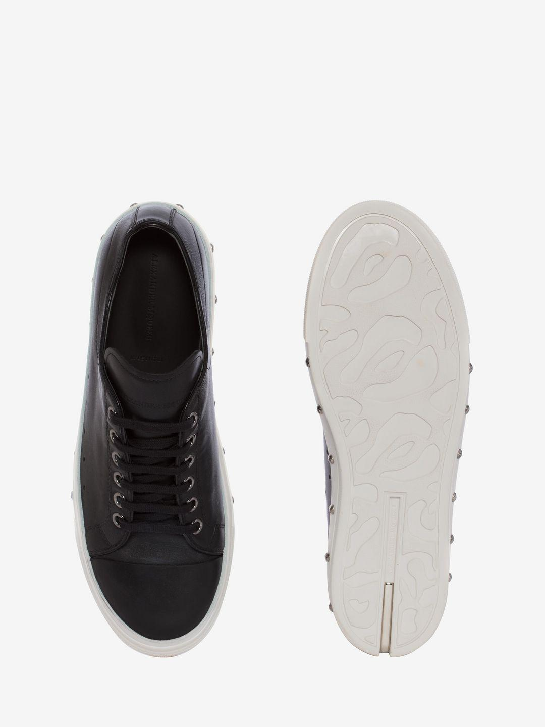 Alexander McQueen Leather Cupsole Sneaker in Black