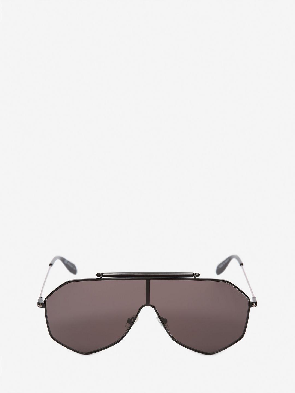 b65a67b7dd1 Alexander Mcqueen Piercing Frame in Black for Men - Lyst