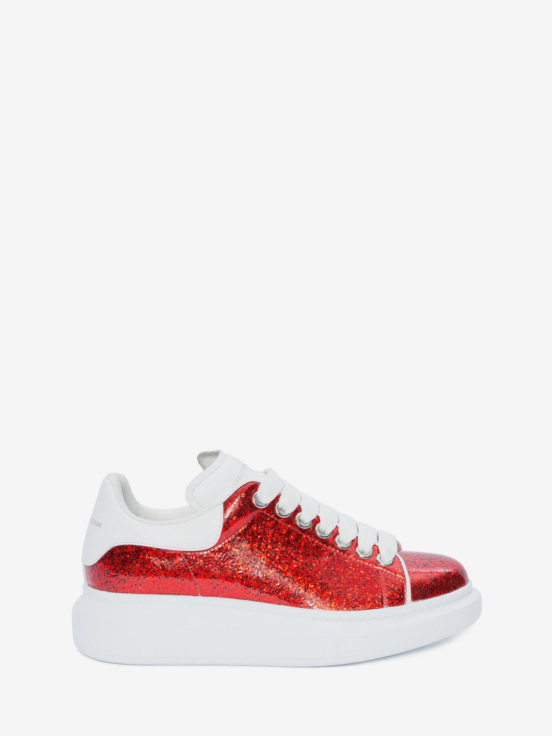 lyst alexander mcqueen oversized sneaker in red save 2. Black Bedroom Furniture Sets. Home Design Ideas