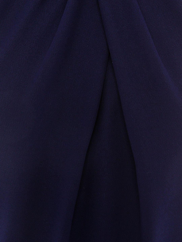 Robe mi-longue à dos nu avec corde à cristaux Synthétique Alexander McQueen en coloris Bleu