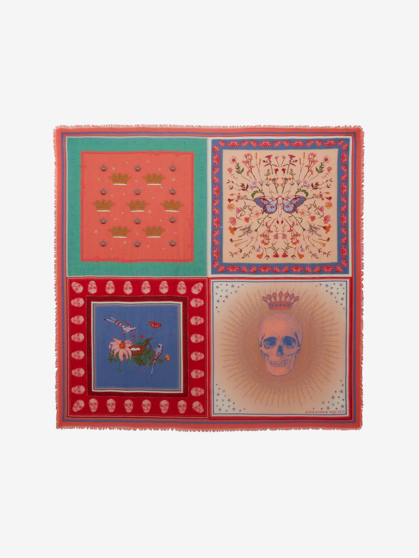 Multi Buried Wool Garden Shawl - Pink & Purple Alexander McQueen FS5Vm8Hg