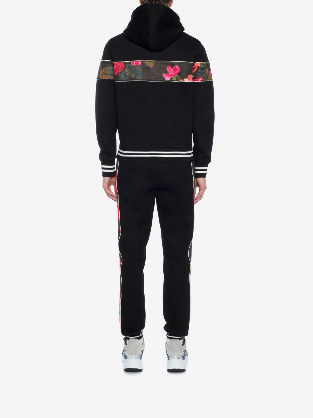 Alexander McQueen Synthetic Painted Rose Sweatpants in Black for Men