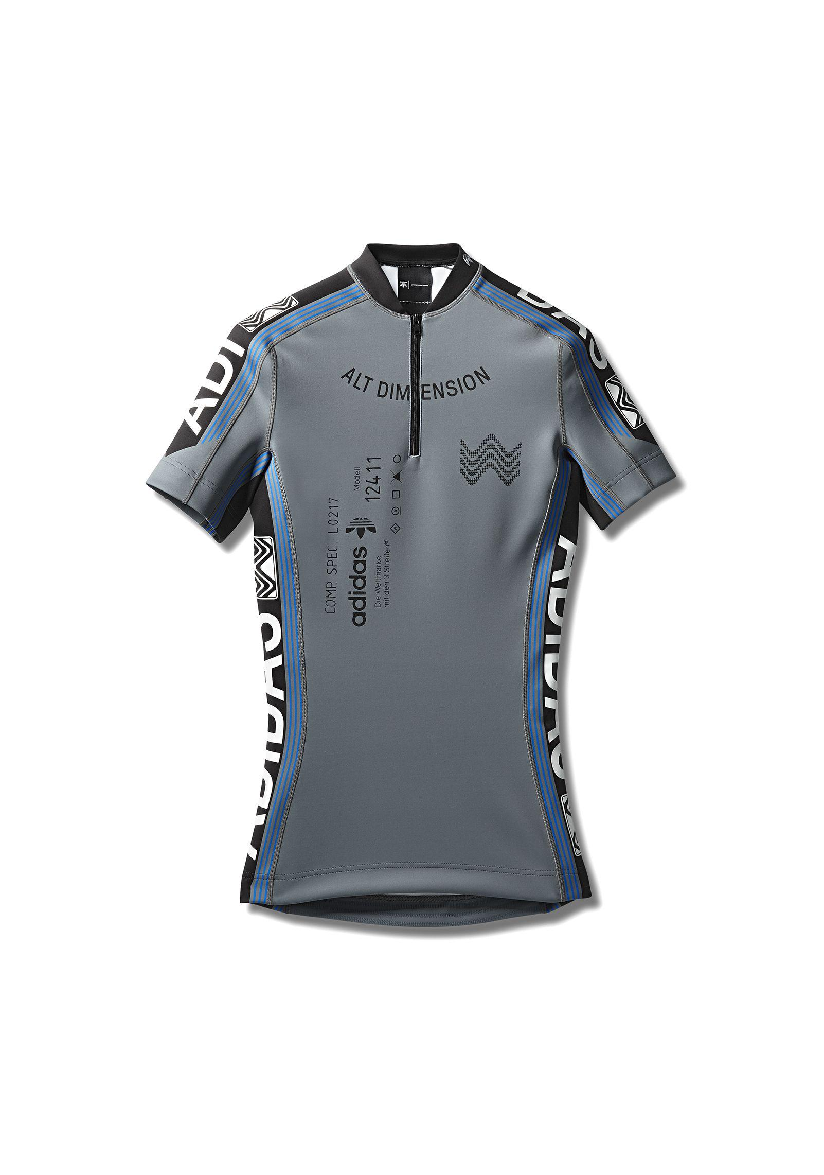 Alexander Wang Rubber Adidas Orignals By Aw Cycling Jersey in Grey ...