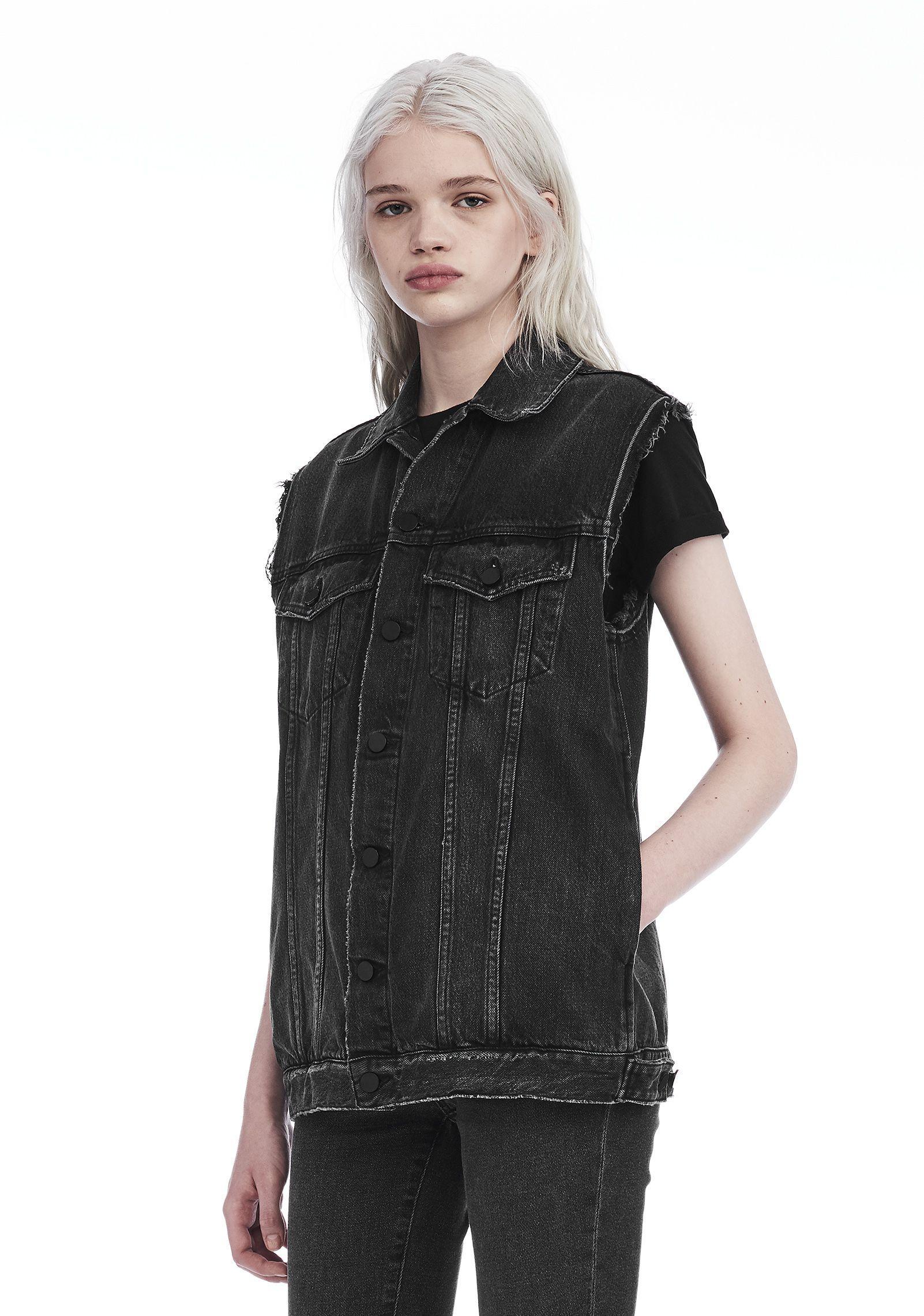 Alexander Wang Cotton Daze Oversized Vest in Grey (Grey)