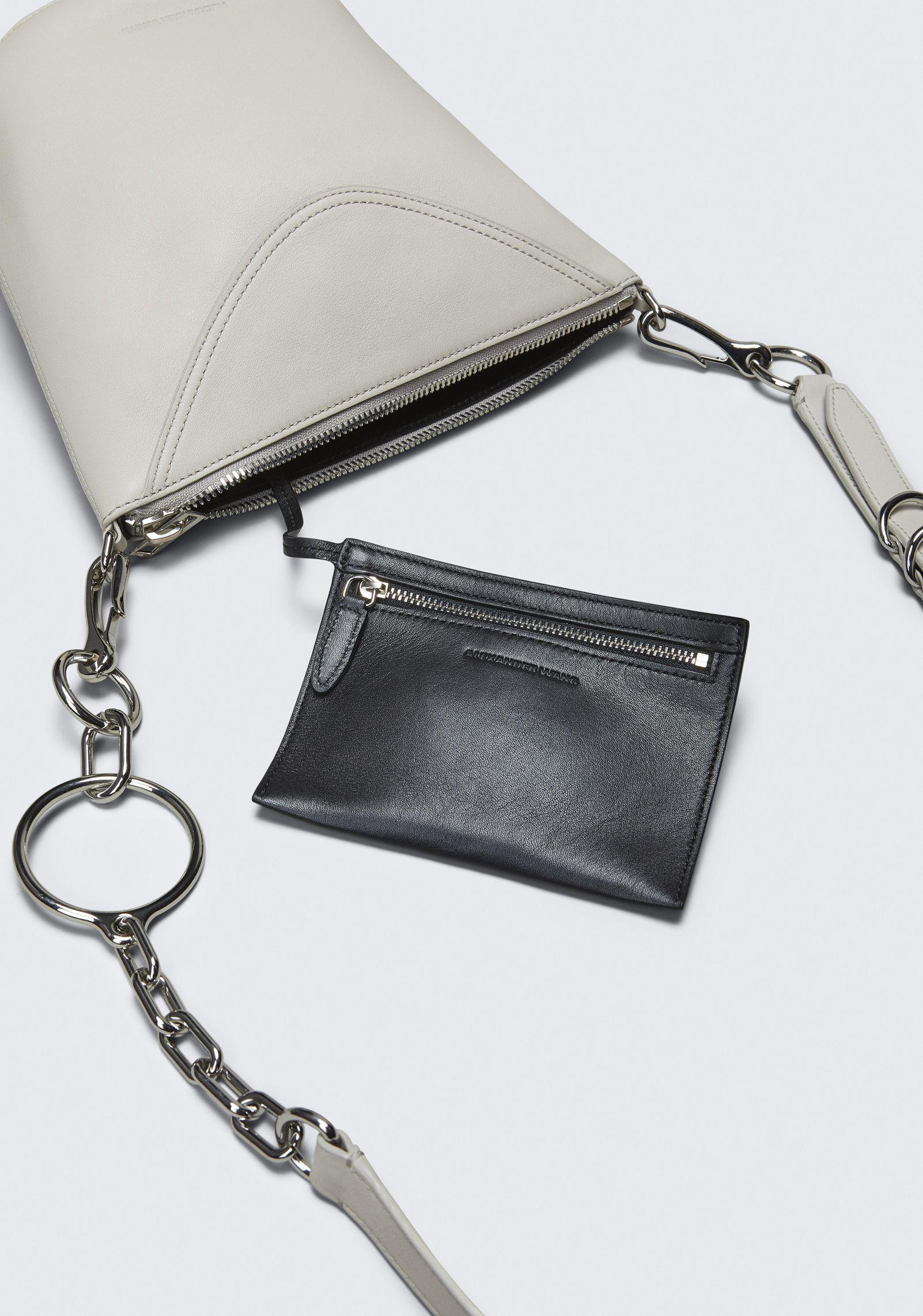 Alexander Wang Leather Smoke Ace Crossbody in Ivory (White)