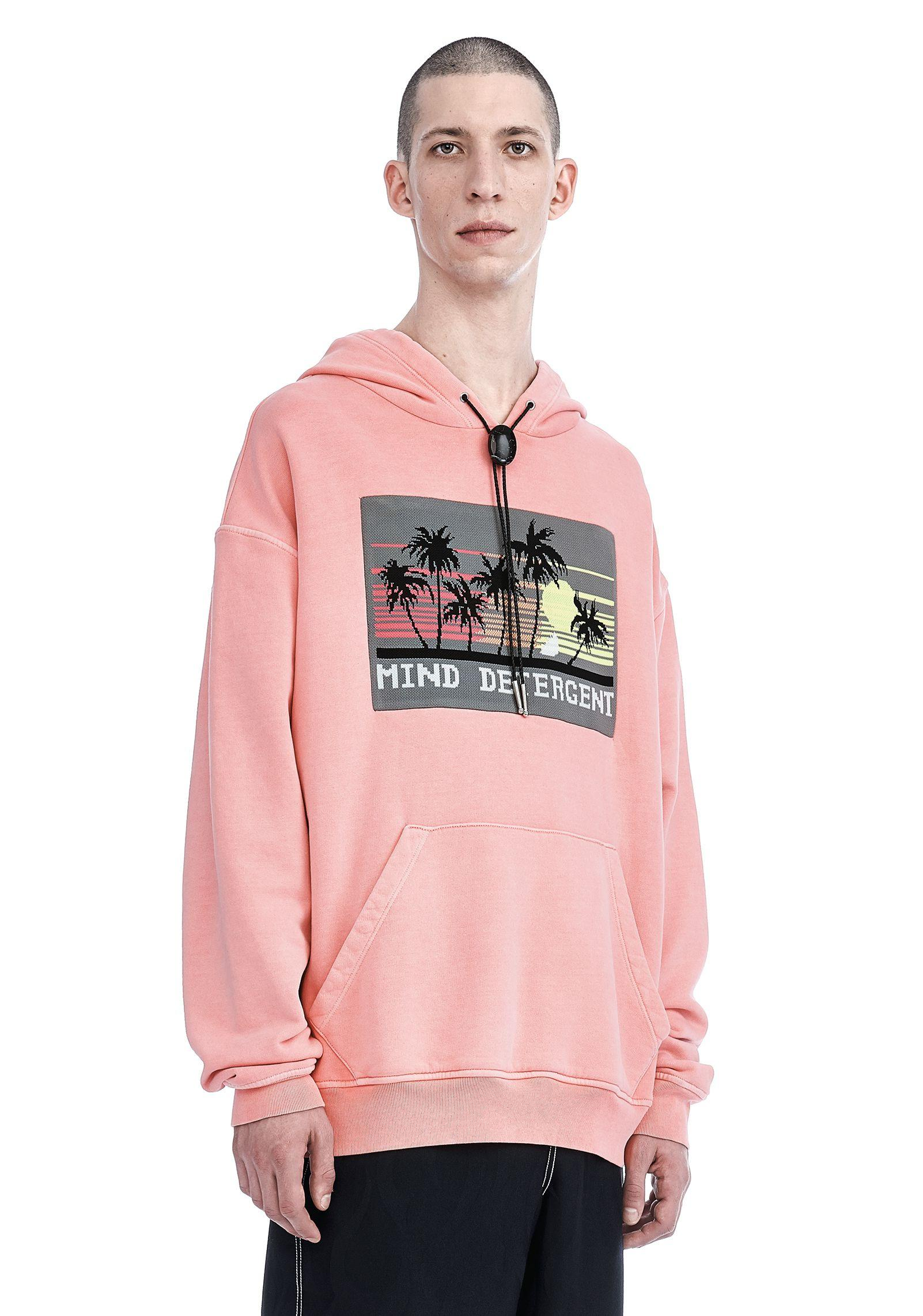 Alexander Wang Cotton Garment Dyed Hoodie in Pink for Men