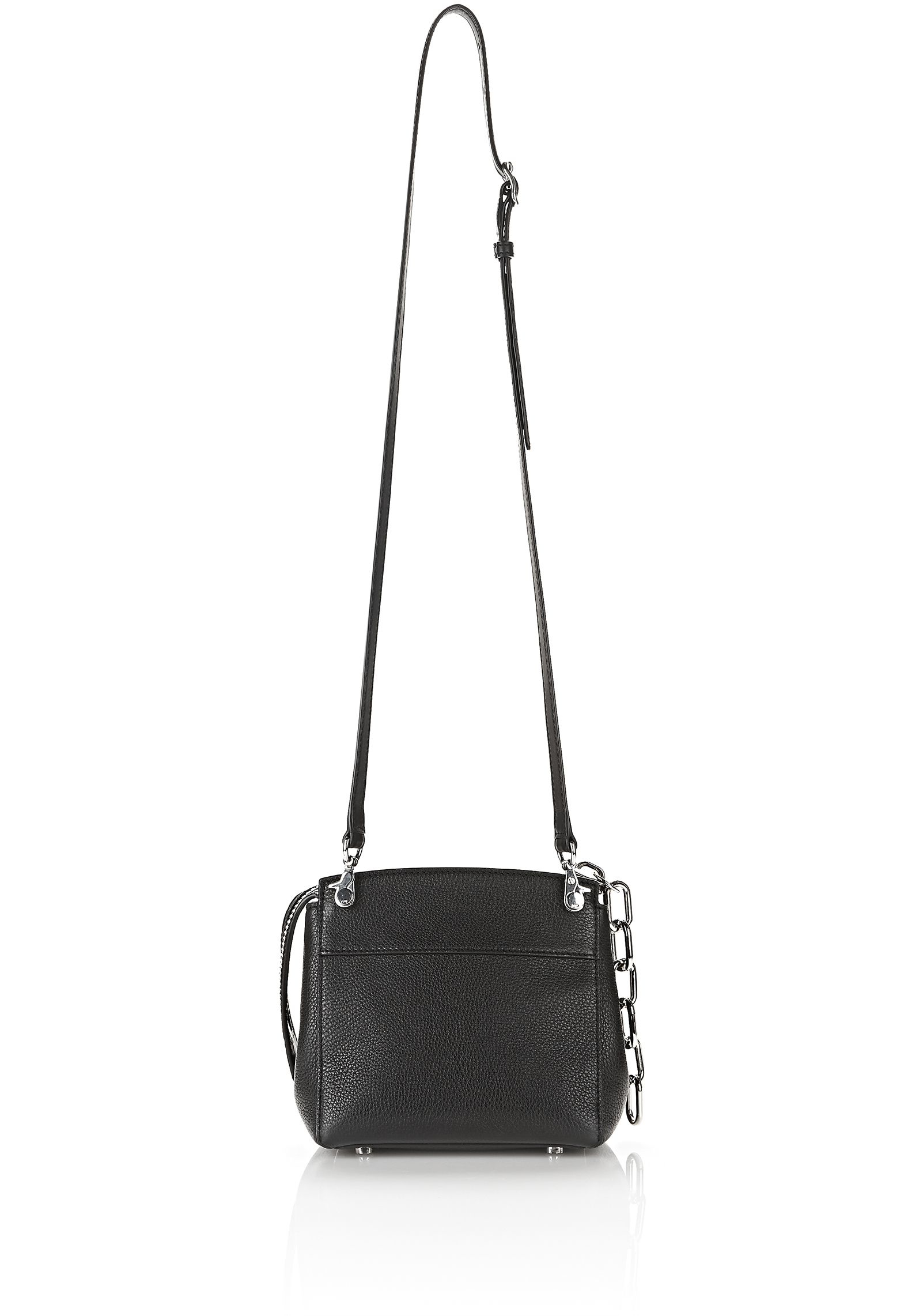 Alexander Wang Leather Attica Flap Marion With Studs in Black