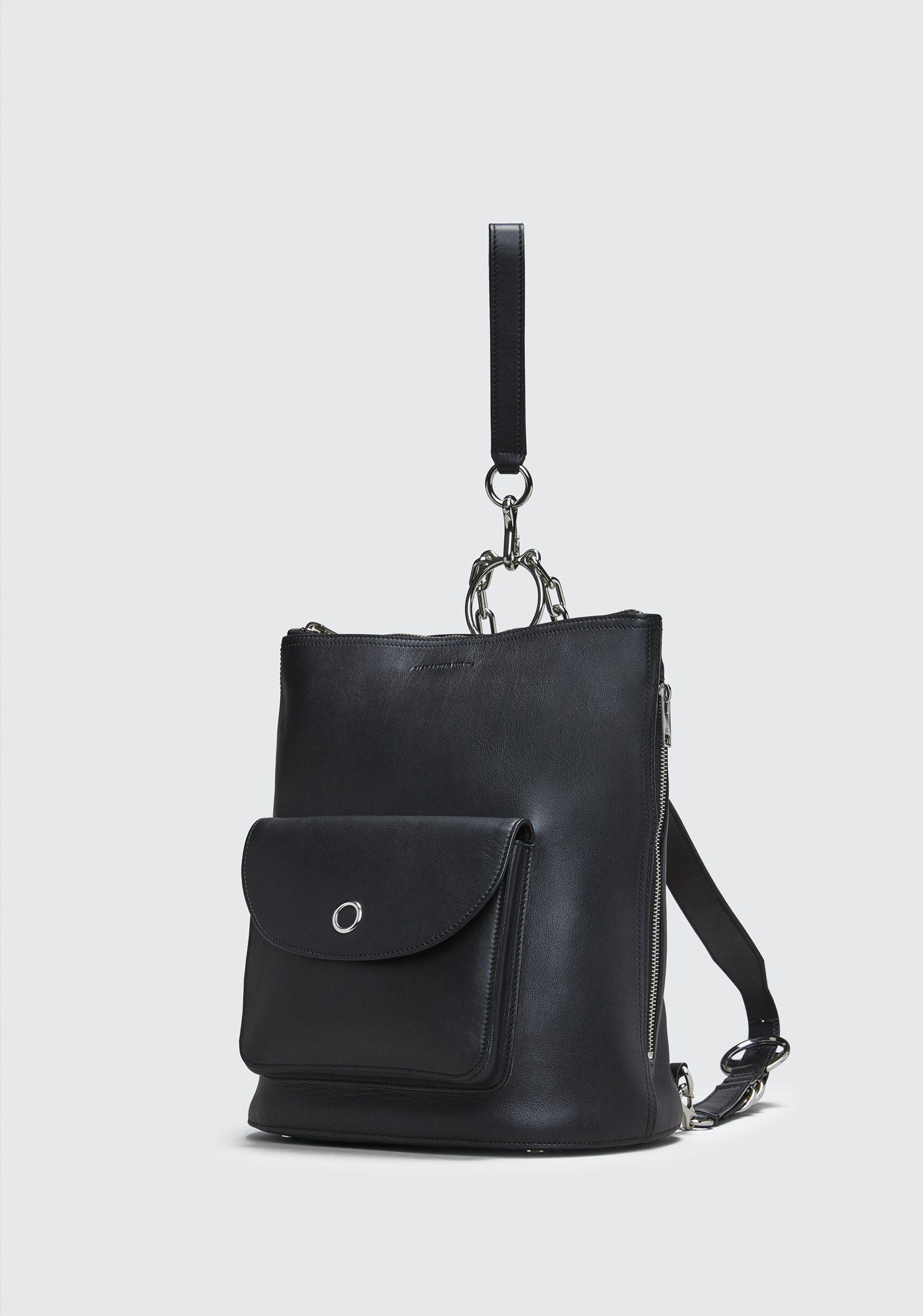 Alexander Wang Leather Black Ace Backpack
