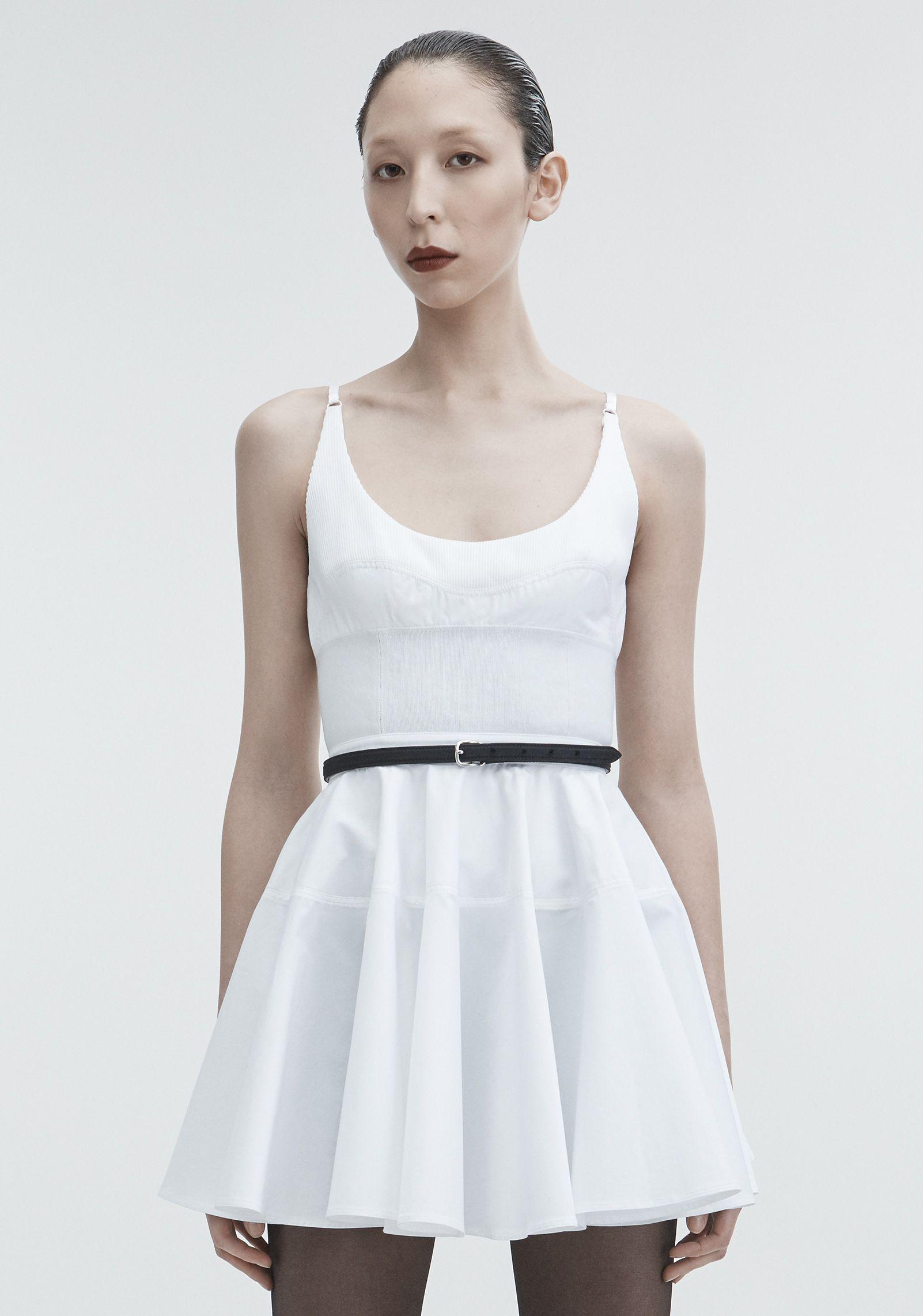 38d252520af Alexander Wang Poplin Mini Dress in White - Lyst
