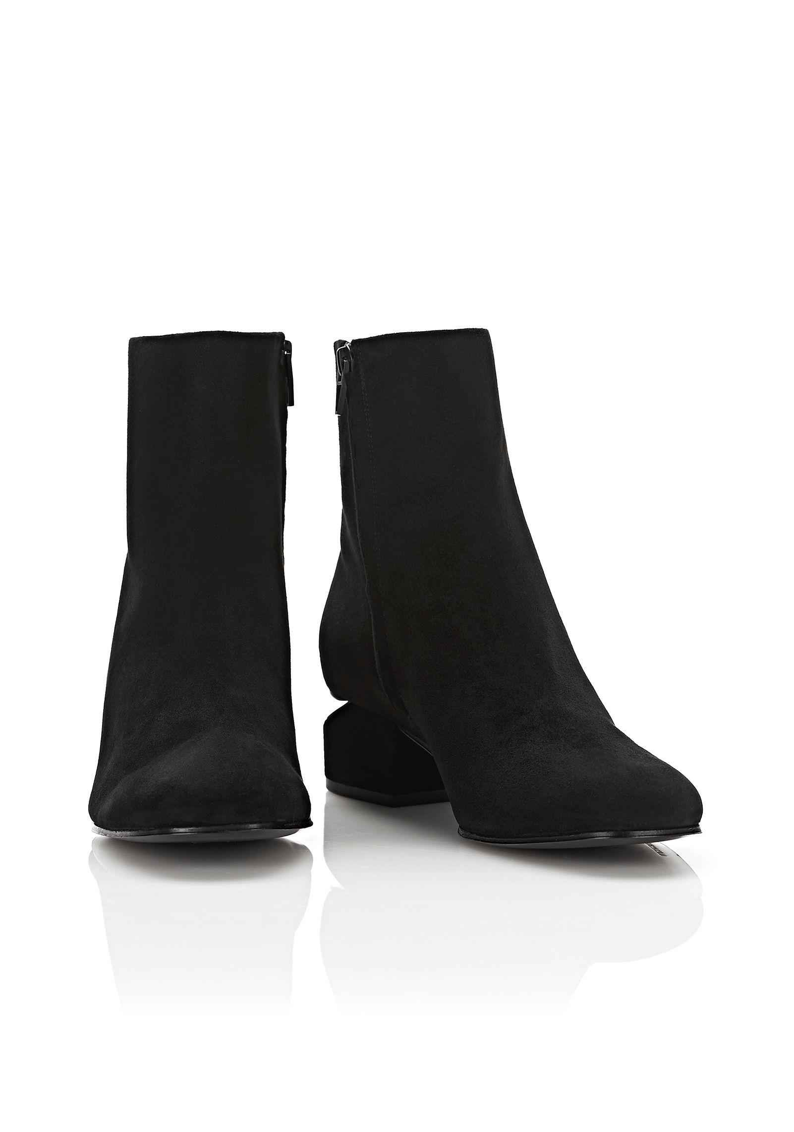 Alexander Wang Kelly Suede Boot With Rhodium in Black