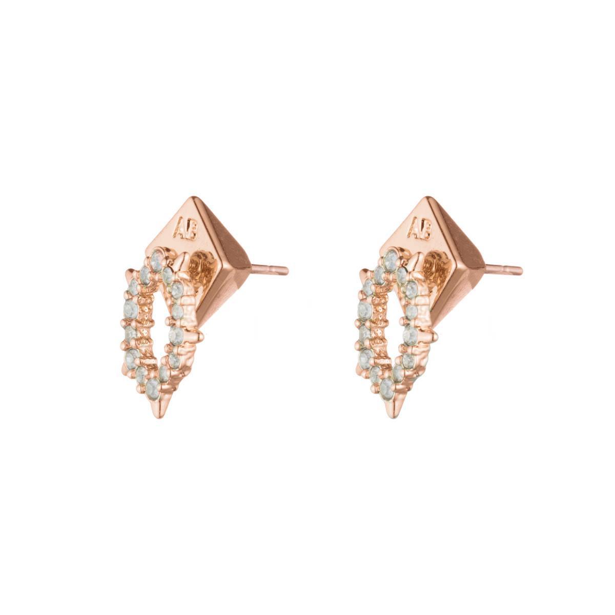 Alexis Bittar Crystal Encrusted Spiked Stud Earring uiyu75