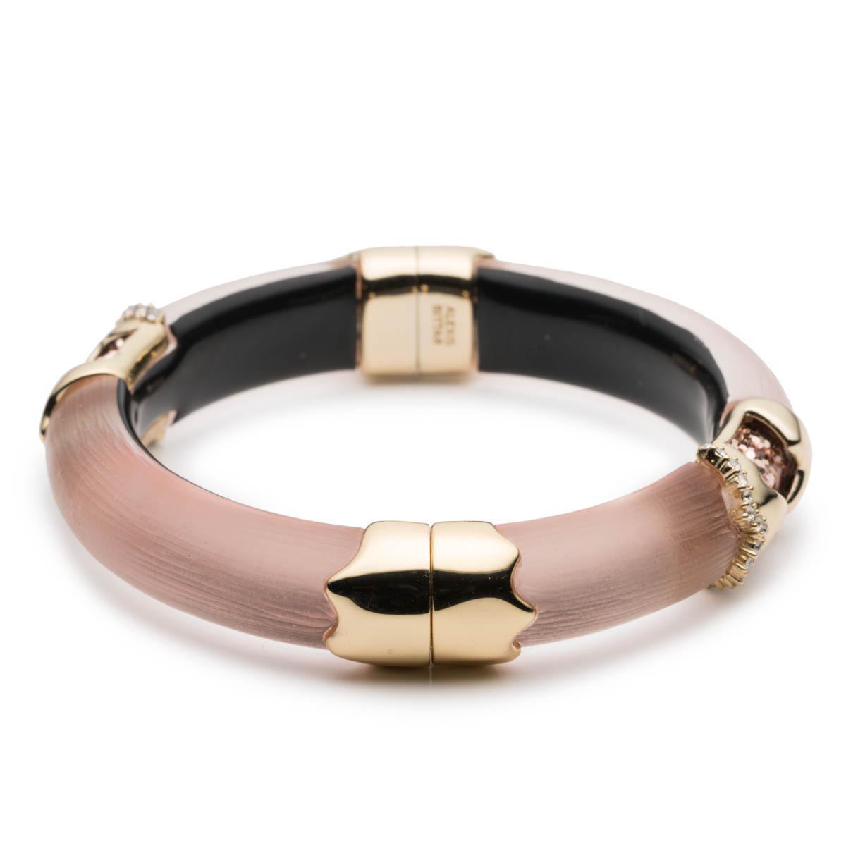 Alexis Bittar Crystal Encrusted Jagged Hinge Bracelet Sunset uUC1e