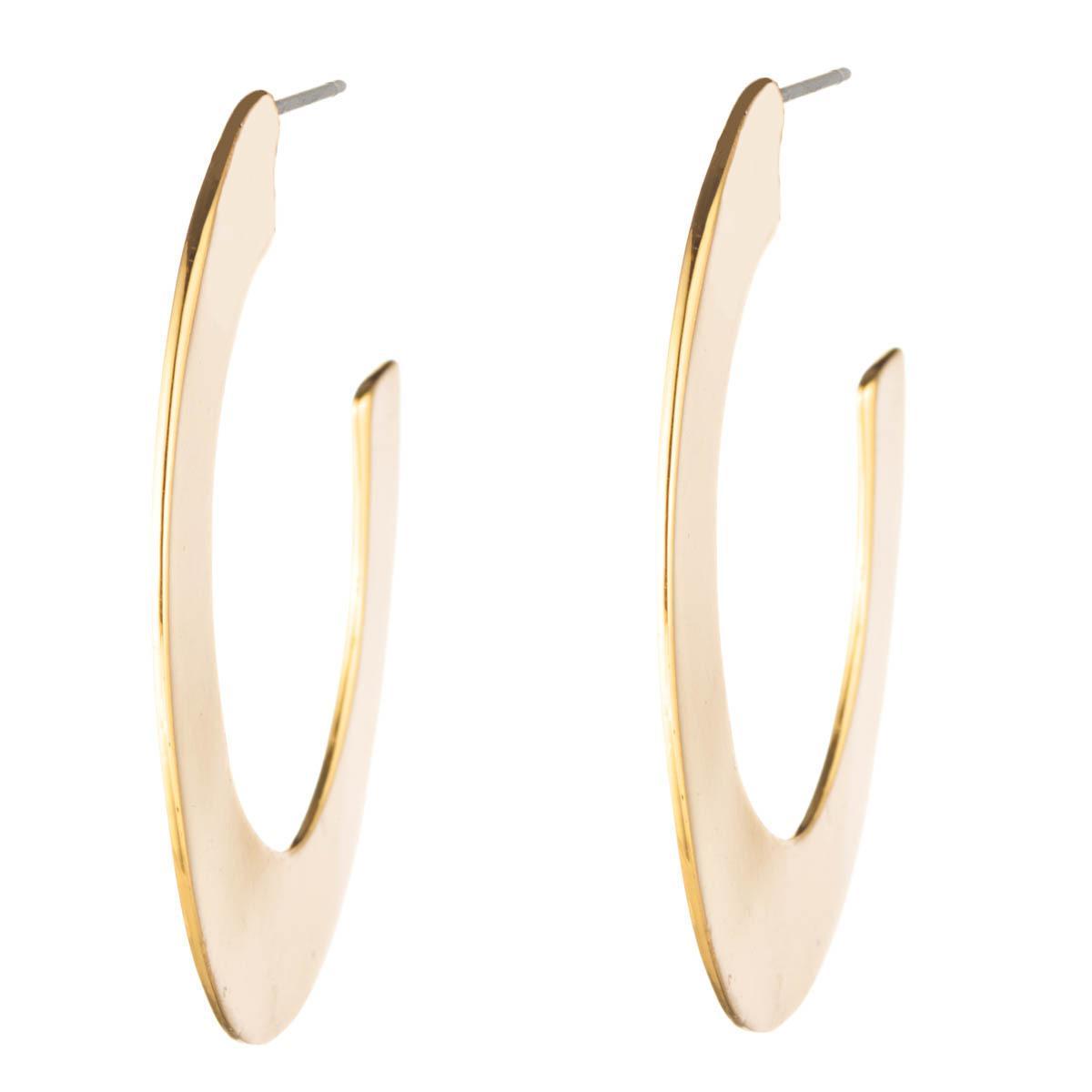 Alexis Bittar Liquid Metal Orbit Hoop Earrings, Gray