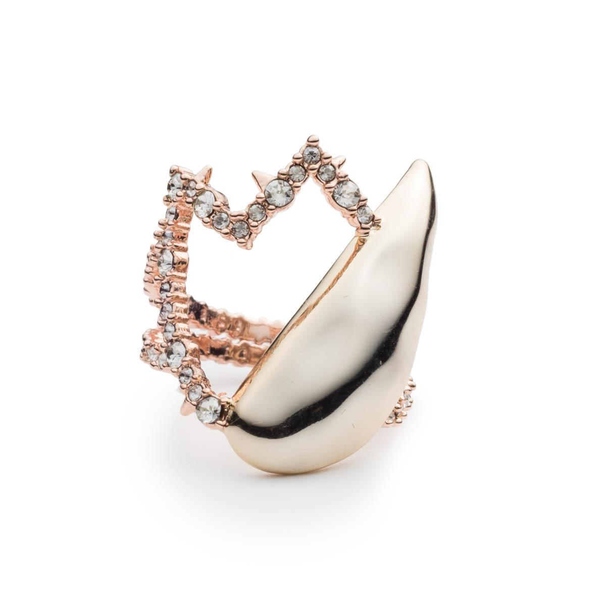 Alexis Bittar Crystal Encrusted Abstract Tulip Ring hGNeNFYg