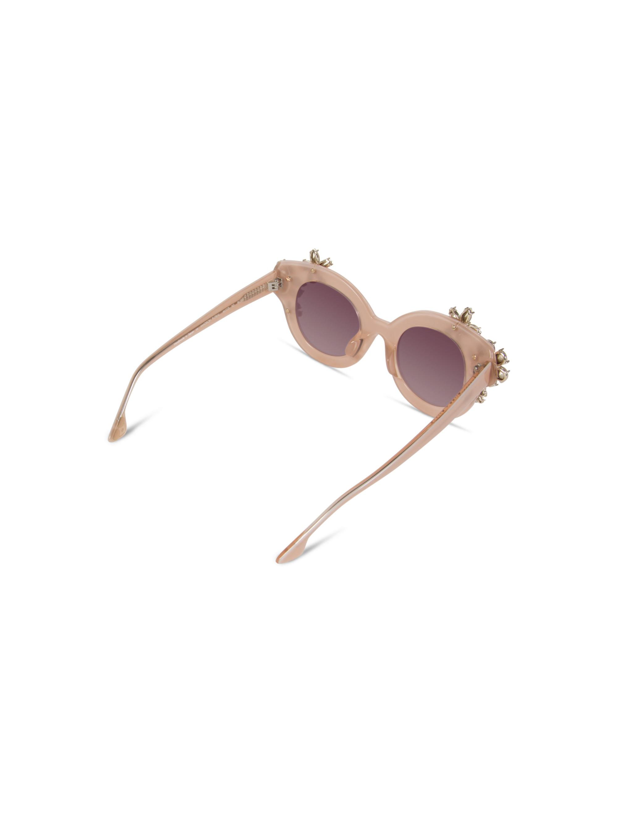 Alice + Olivia Madison Floral Sunglasses in Blush (Pink)