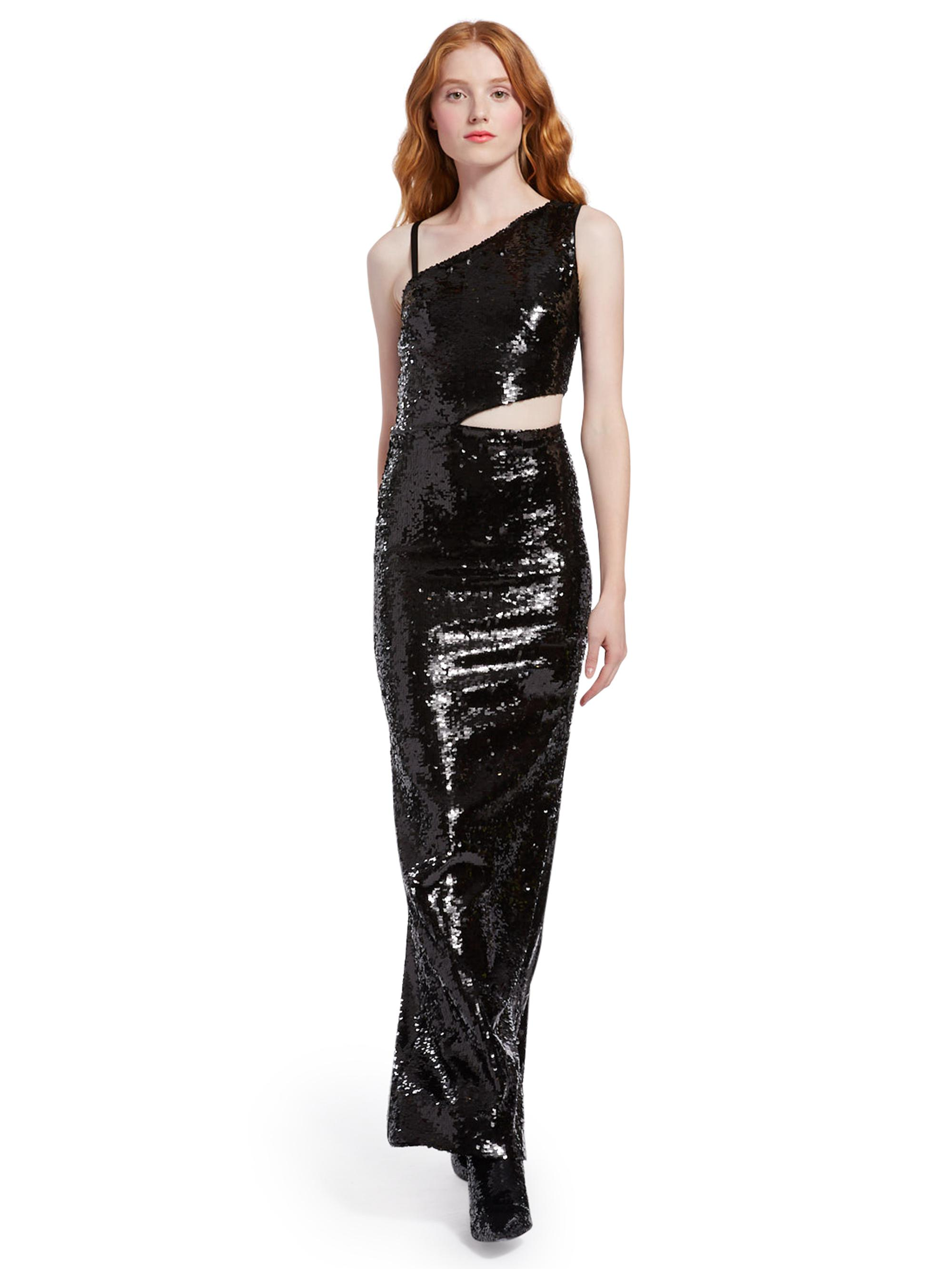 161ac3c3a13c Alice + Olivia Kaitlyn Sequin Cut Out Gown in Black - Lyst