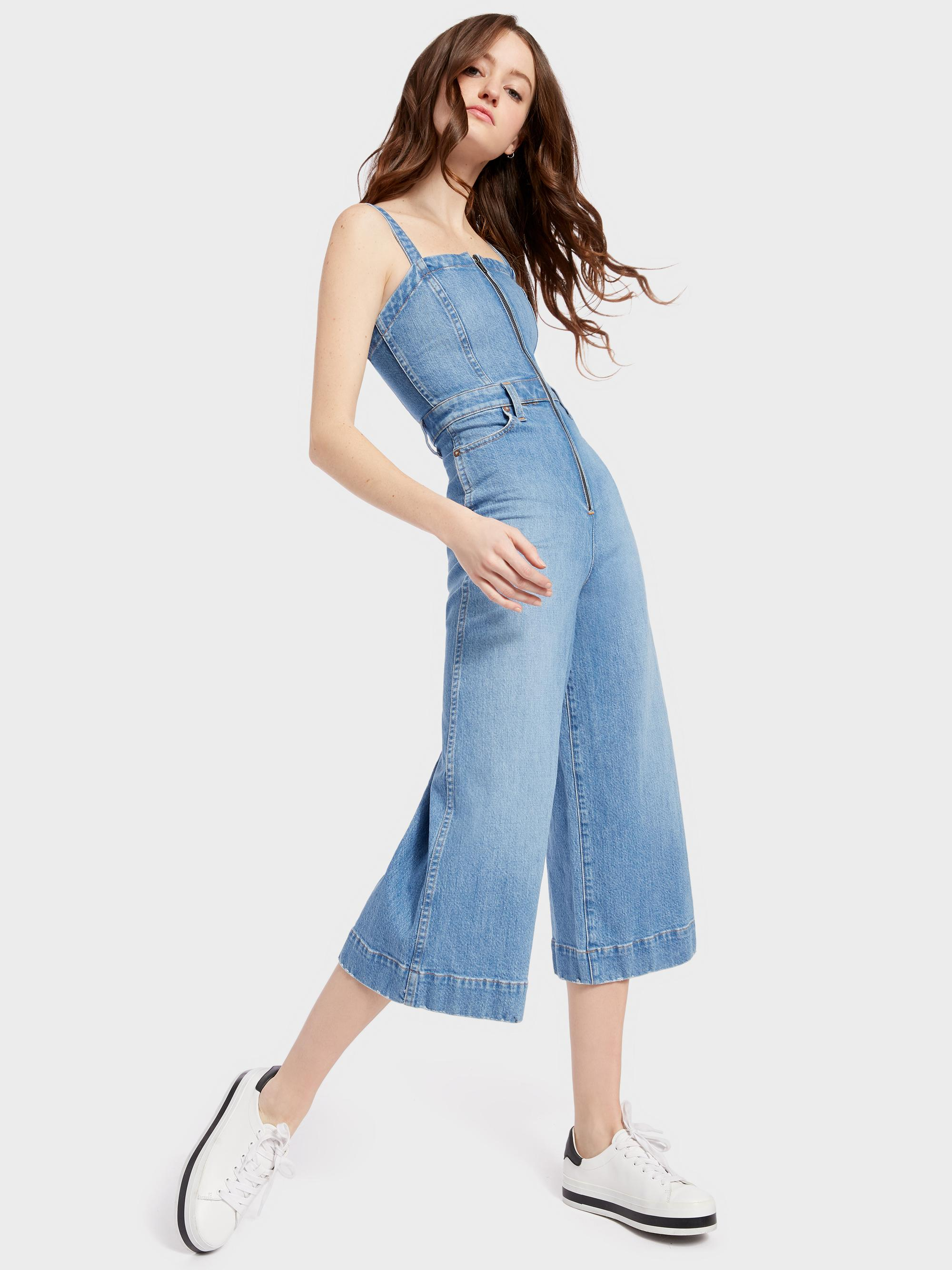 dc92f757e9b Lyst - Alice + Olivia Gorgeous Gaucho Jumpsuit in Blue