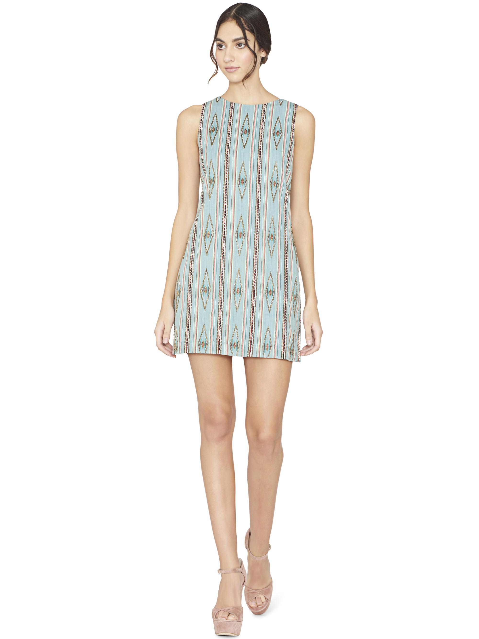 b9e80f8321a Alice + Olivia Clyde Embellished Shift Dress in Blue - Lyst