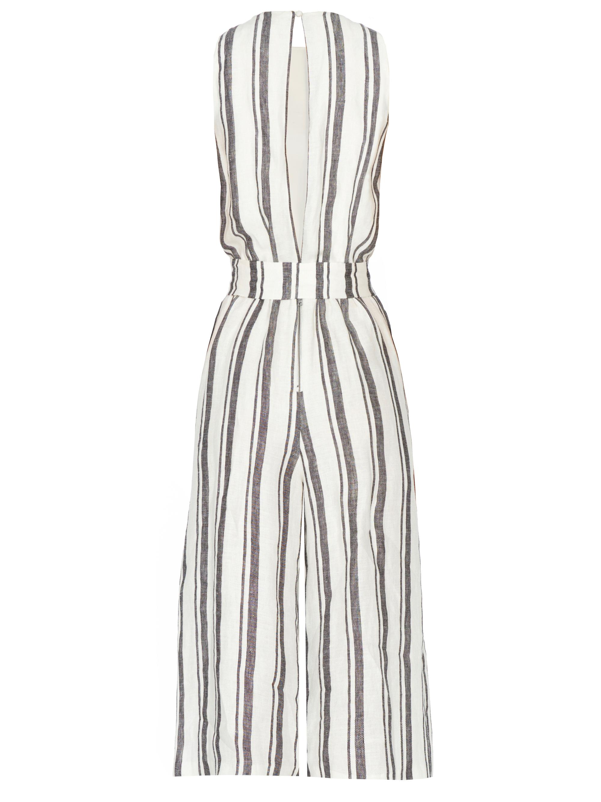 67450a55bbb Lyst - Alice + Olivia Franny Gaucho Jumpsuit With Tie Belt in White